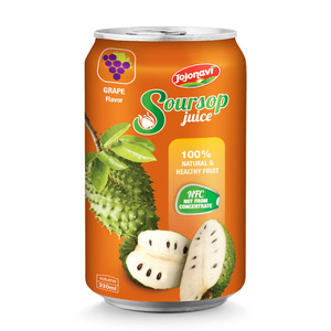 Soursop juice with Grape flavor Beverage manufacturer for alu can 330ml