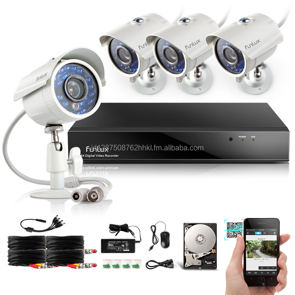 Video Home Security Camera System 4Ch NVR 4 1.0MP IP Network PoE