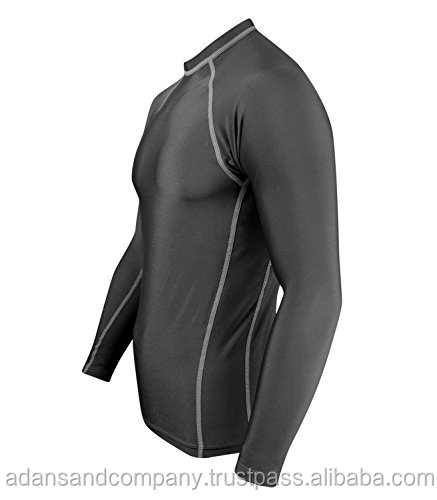 ( FREE SHIIPPING DOOR DELIEVERY WITH DECEMBER ORDERS) Solid Constructed Multi Sports Rash Guard Compression Shirt