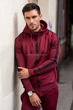 Track Suit Cotton Black with White Stripes/Jogging suit for men/Customized wholesale tracksuit