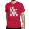 [Custom Designed] Gym Quotes - Eat Sleep - Men's Red T-shirt