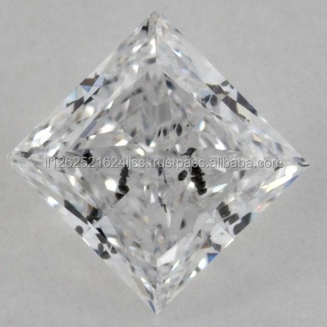 Princess Cut Natural Diamond Loose Diamonds 0.60ct GIA