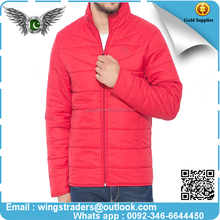 2017 winter men's new design quilted padded fitted down bomber jacket For Man's