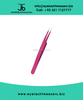 Eyelash Extension Tweezers, Pro Straight Dark Pink Color Finish
