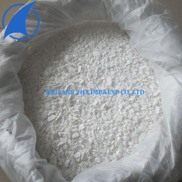 Industrial Grade White Flake Dihydrate Calcium Chloride 77%min