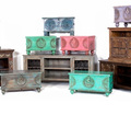 INDUSTRIAL FURNITURE EXPORTER Wood Metal Cabinet. Bedside Table chair and Stool