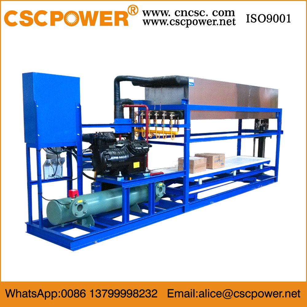 CSCPOWER 3000KG directly cooling block ice maker, 3 ton block ice machine