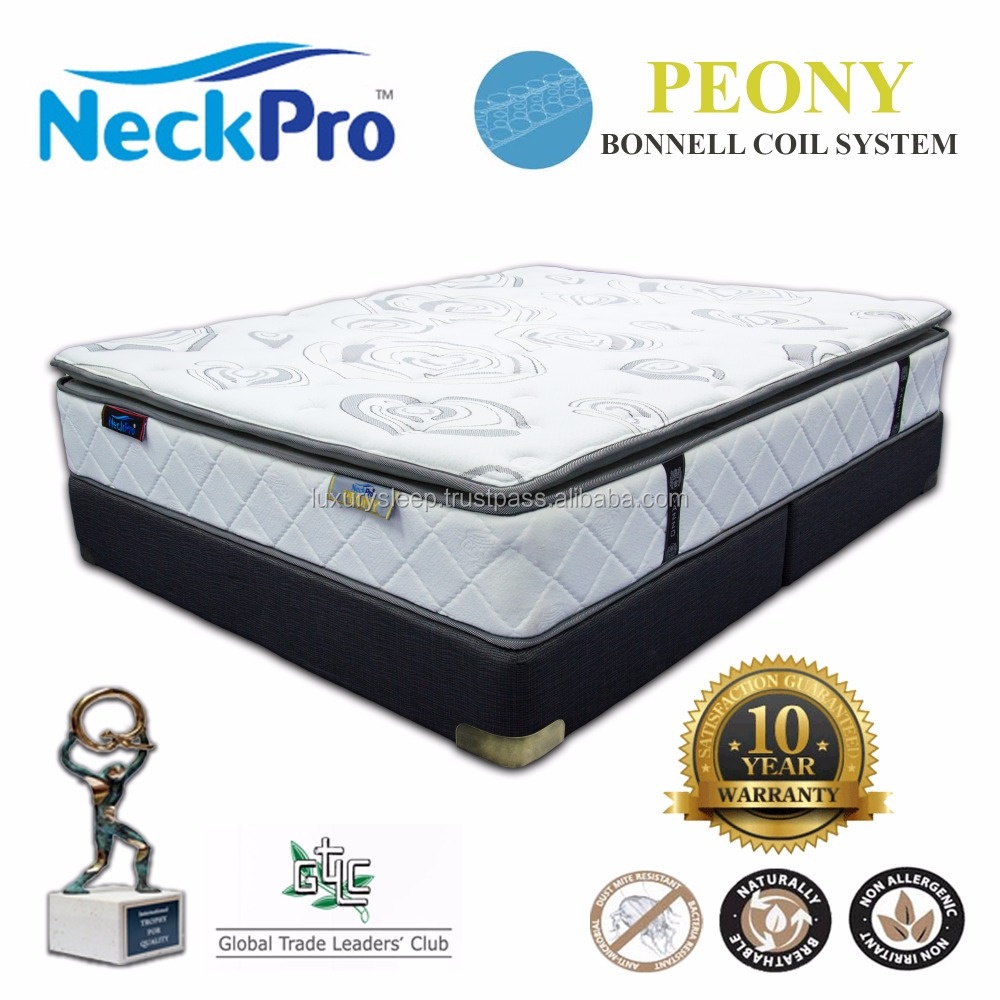 NeckPro Peony Queen Size Bonnell Spring Mattress 12 inch Thickness