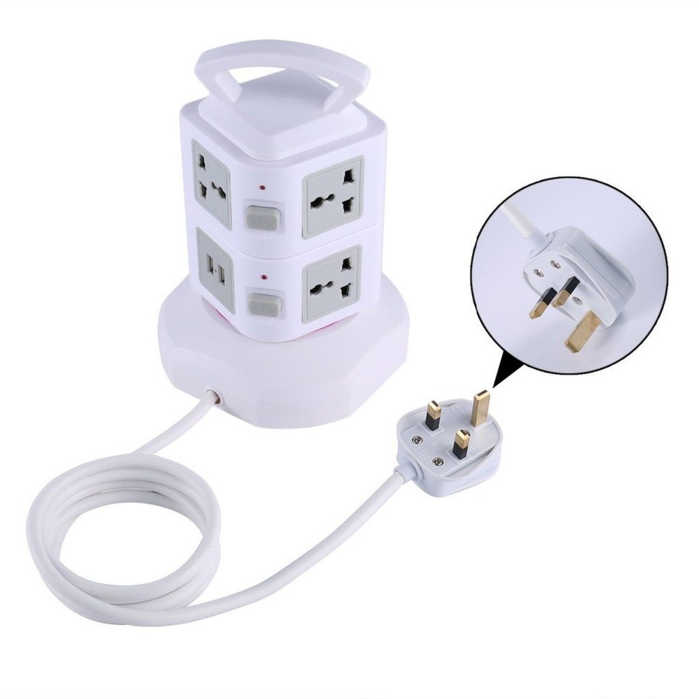 Residential Tower/Vertical type powered plug socket with Electrical Leads