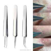 Blemish Extractor HOT Tweezers Bend Curved Acne Blackhead Comedones 1pc Skin