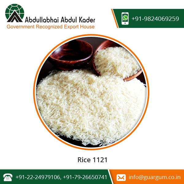 Natural Aroma, Uniform Seed Size, Delicious Taste Rice 1121 for Bulk Supply