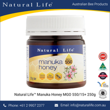 (MGO 550/15+) 250g Pure Organic Manuka Honey Bulk