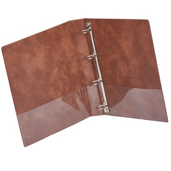 Leather Ring Binder Simple 4 Rings