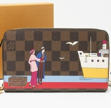 Used LOUIS VUITTON preowned lv M41665 Cruise print Zippy Wallet for wholesale supply to luxury Brand shop owners or retailers