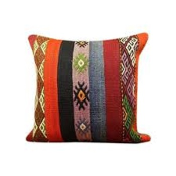 Cotton Cushion with Printed Designs from India