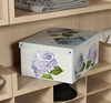 Decorative Storage Box with Handles - Collection Ortensie /Hydrangeas, Multi-Colour, 50 x 39 x 24 cm