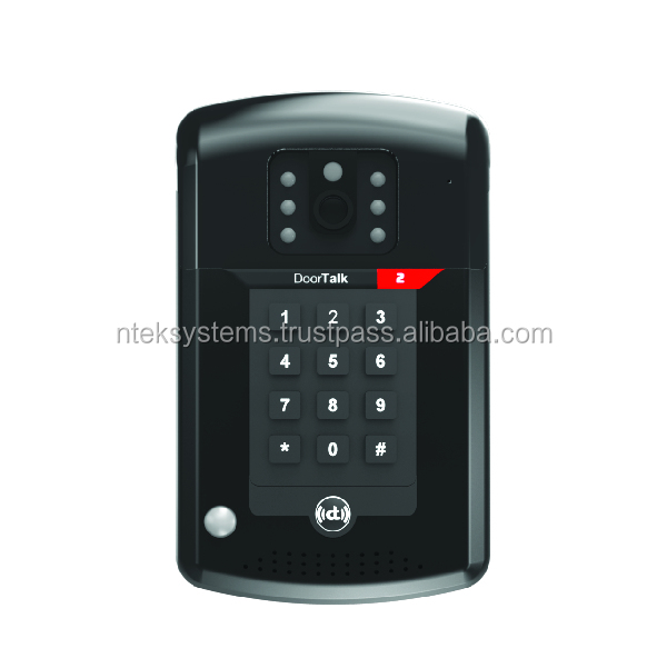 DoorTalk Access PIN SIP-based WiFi-enabled Lobby Phone, Video Door Intercom (Built-in IP-PBX)