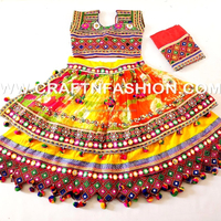 Beautiful Guajarati traditional garba dress- Kutch Traditional embroidered chaniyacholi With dupatta
