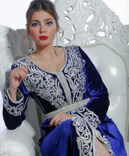 Wholesale Velvet Hand Made embroidered Caftan, Farasha Dress Women Moroccan Kaftans for Sale