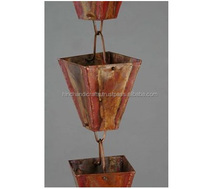 Natural Copper Finish Copper Rain Chain