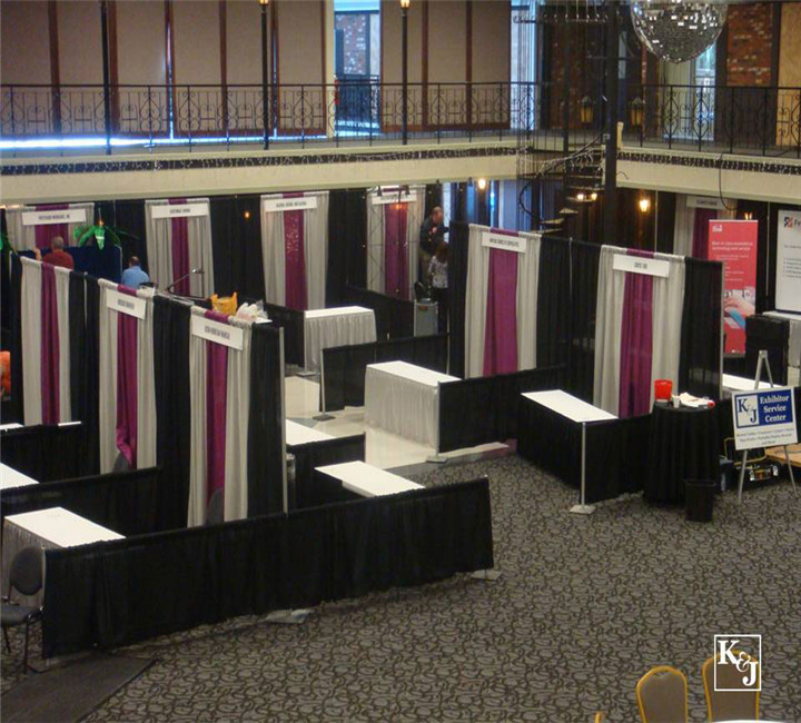 Fashion pipe and drape backdrop uprights, crossbars and bases designed exhibition/photo booth