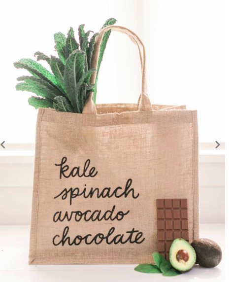 Handmade eco-friendly grocery shopping jute tote bag