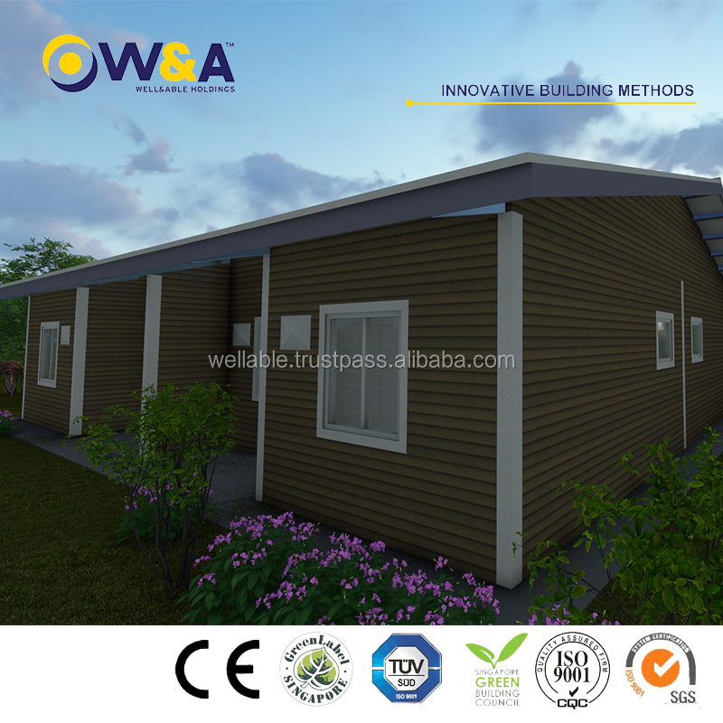 (WAS1010-36D)Modern Low Cost Color Prefabricated House Wholesale/ Living Home/ Residential Building