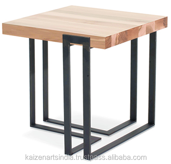 Square Coffee Table - Glass Top - wooden top - drink stool - outdoor indoor table