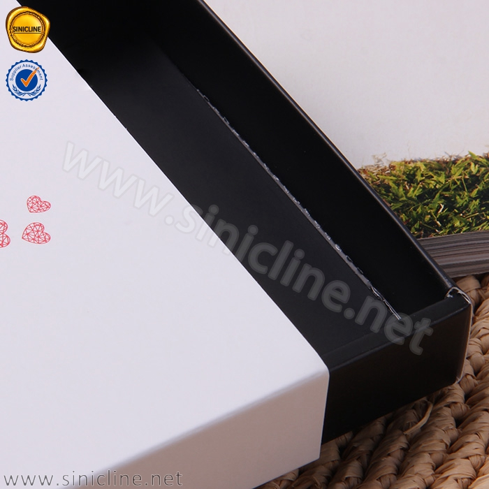 Sinicline custom design paper cardboard drawer box with handle