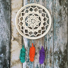 White Goose Feather Dream Catcher indian dream catcher