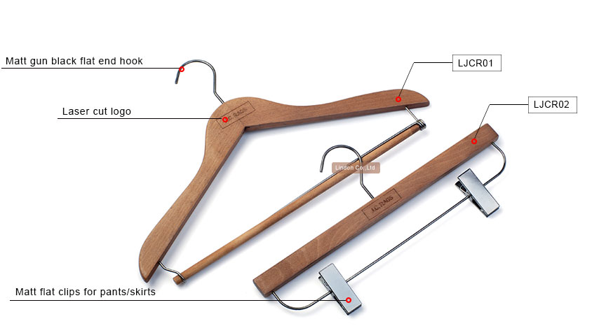 Assessed Supplier LINDON antique clothes shop wooden hangers guilin