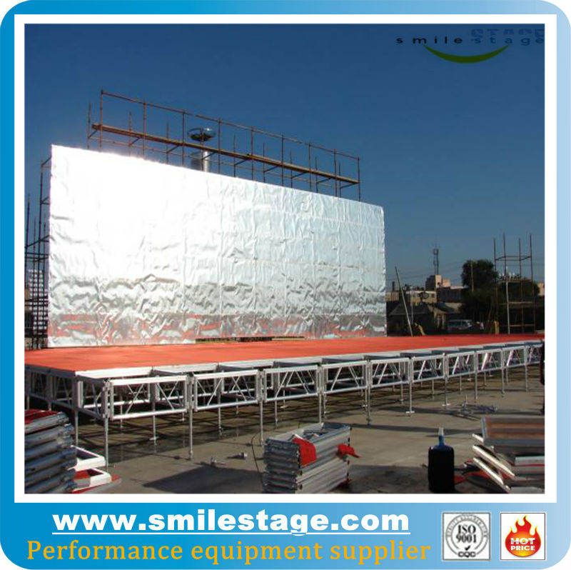 professional factory metal moblie crystal wedding stage for sale