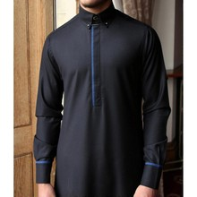 Cotton Galabiyya - Thobe - Navy Blue Cotton Jubba | Muslim Wear