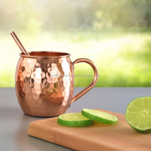2018 New Hot Sale Moscow Mule Pure Copper Mug 100% Solid Copper Cup Perfect for Bar Moscow Mules