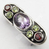925 Solid Silver Beautiful AMETHYST