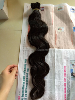Body wavy bulk Hair Extensions 100% Virgin Vietnamese Hair