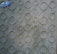 White Marble Round Designed Polished Wall Panel
