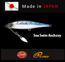 LUCKY CRAFT, SEA SWIM ANCHOVY, High quality fishing lure made in Japan