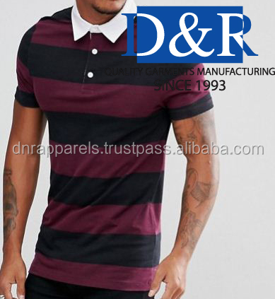 Premium Quality Yarn Dye Men's Casual Polo Shirt OEM Wholesale price