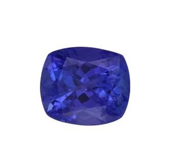 high quality loose cushion cut natural AAAA tanzanite prices