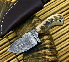 HANDMADE DAMASCUS STEEL SKINNER KNIFE