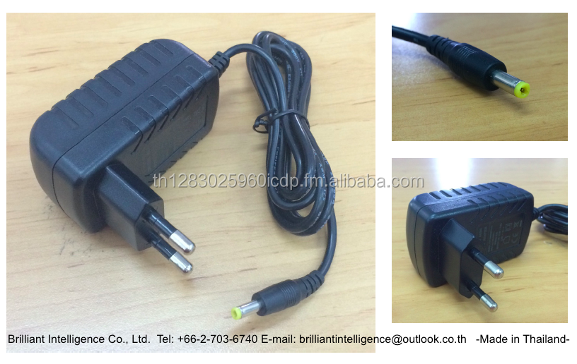 AC/DC Wall Mount Adapter 12V2A 2-Round-Pin Thai Plug Inlet 1.5m cable length