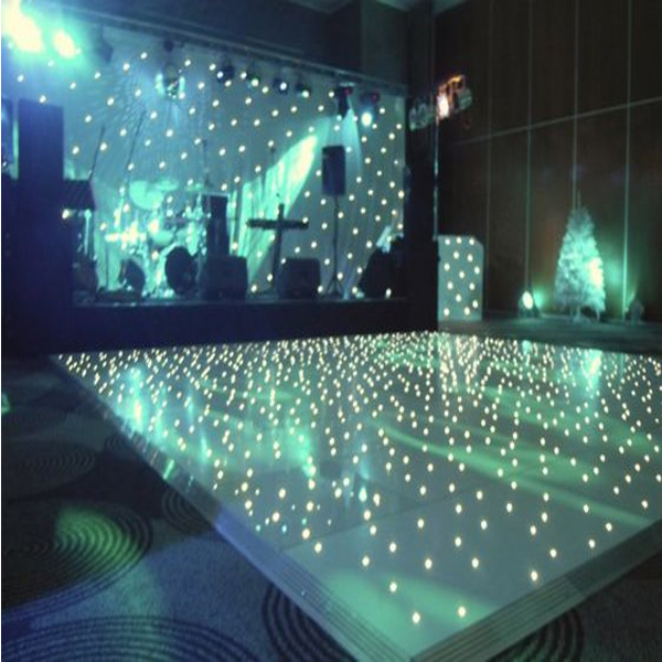 high gloss portable removable Waterproof wooden dance floor/solar panel