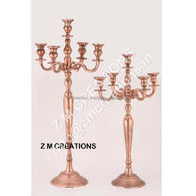 Wedding Copper Color Candelabra / Candle Holder 102 Cm 5 Arms
