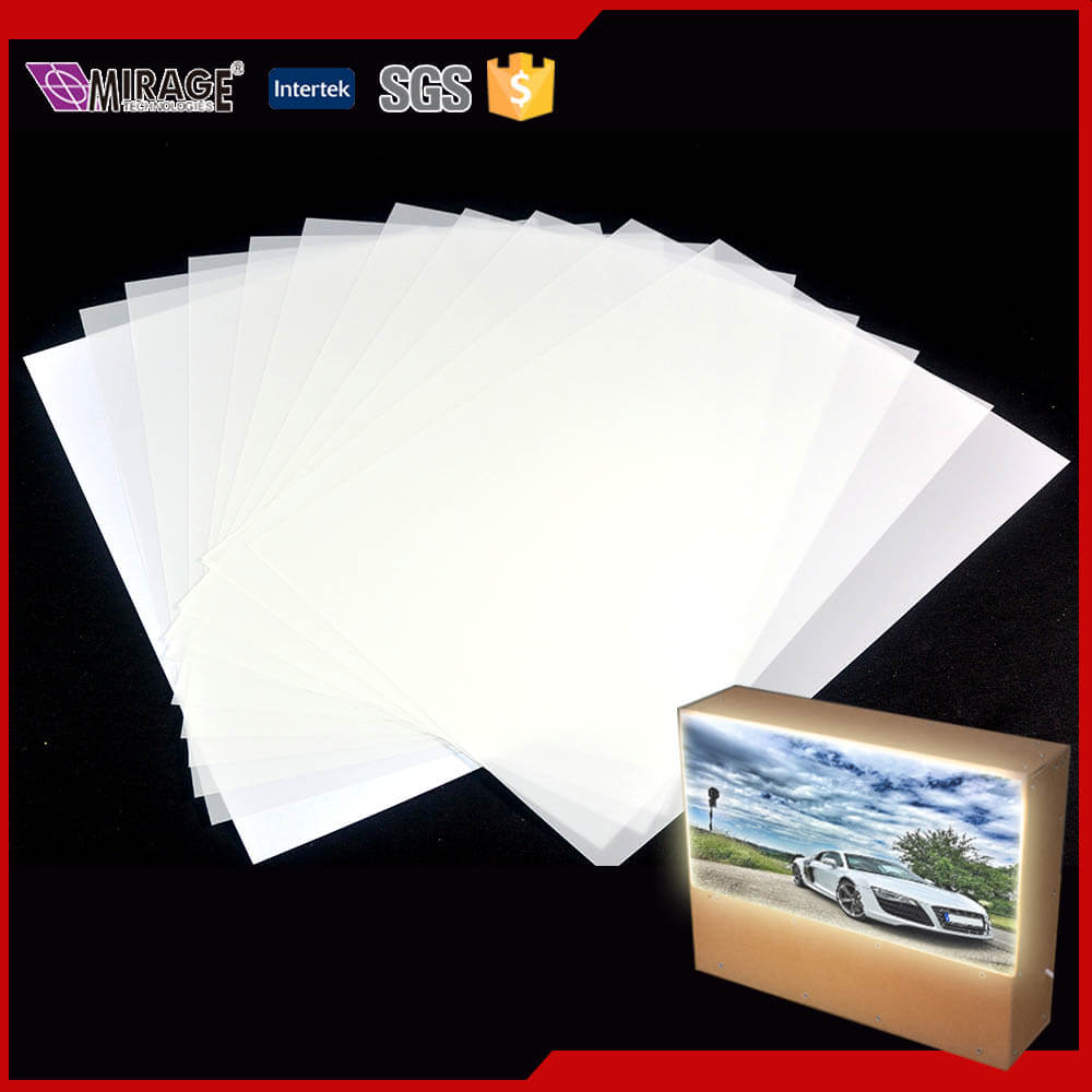 Lower Price A4 Inkjet PET Backlit Film