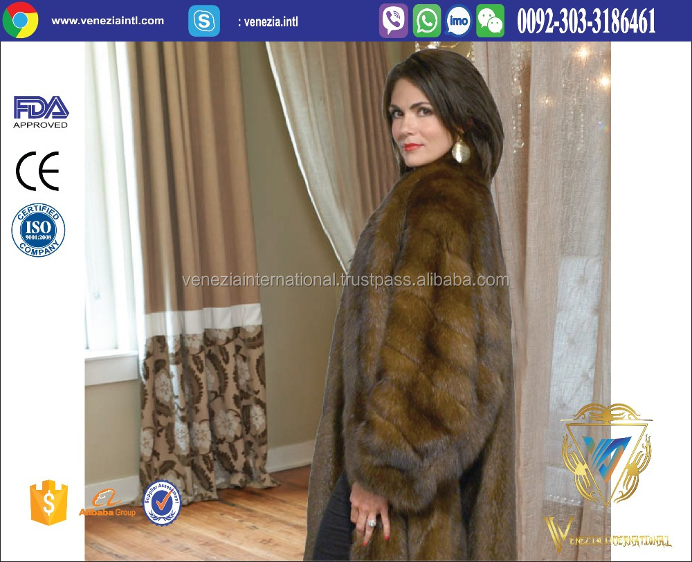 ladies winter fur long coat