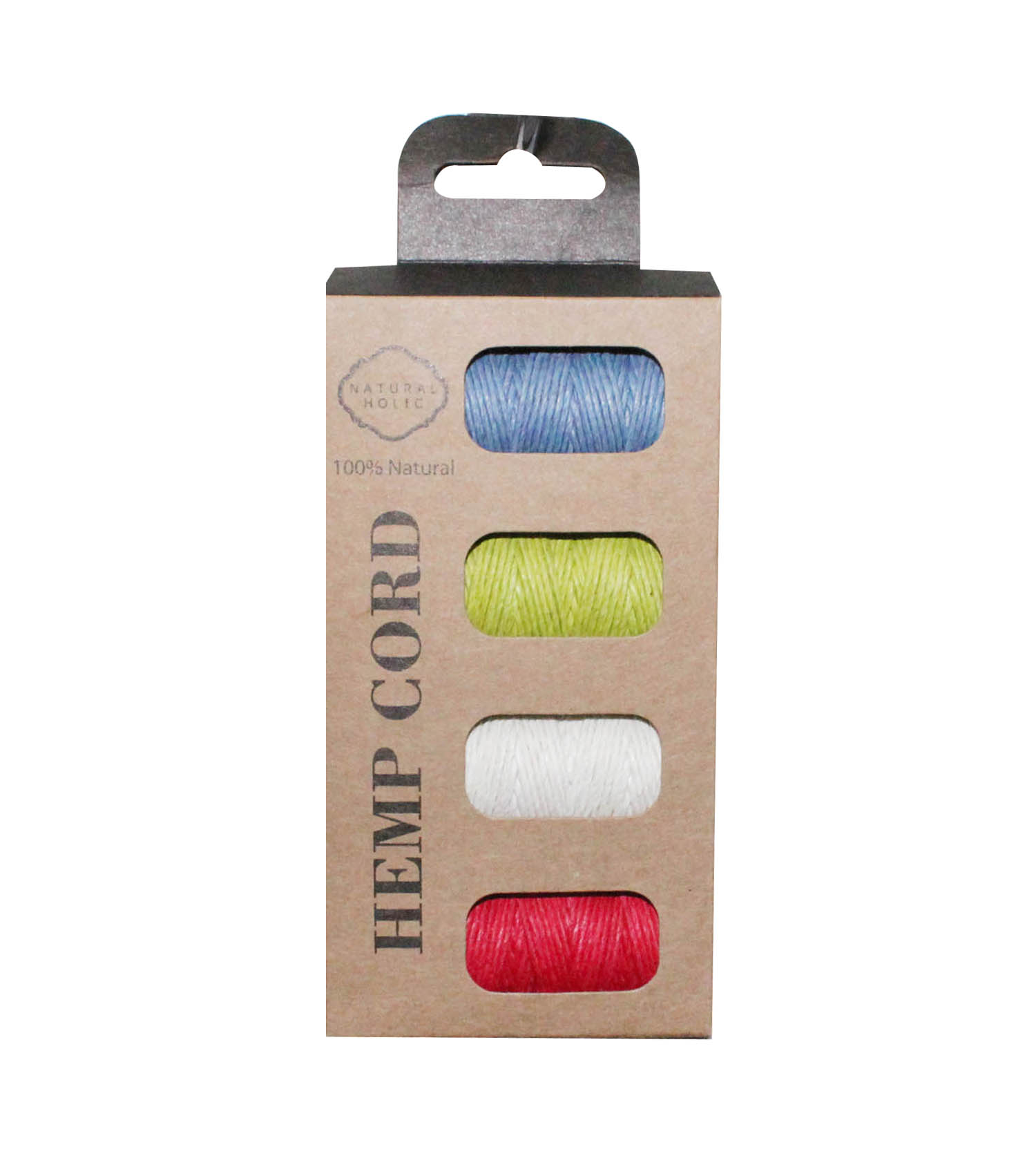 1PCS TO SELL! 4 IN 1 25yards Boxed HEMP CORD SET