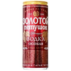 Vodka Golden Rooster in the aluminum Vodka