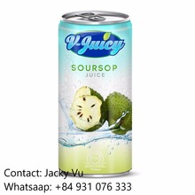 Best Price Private Label Soursop Fruit Juice in 250ml Can
