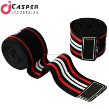 Beautiful wholesale Knee Wraps Weight Lifting Body Building Gym Training Support Customized Weight Lifting Knee Wraps